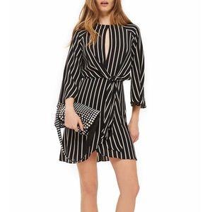 Topshop Stripe Knot Front Dress